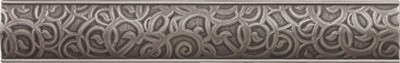 brushed nickel nouveau border 237370