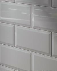 Linear Metro White Ceramic Subway Tile - 4x12 white glossy subway tile
