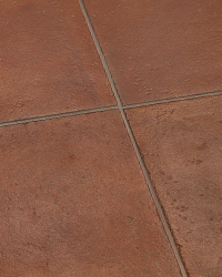 Costa Italian Glazed Porcelain Brings The Deep Red Terra Cotta And Softly Worn Edging Of Tuscan Floors To Mind This Stunningly Rich 12 X Tile Is