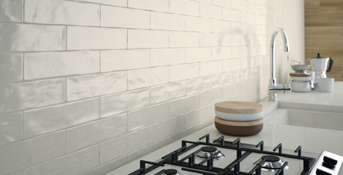 With Its Irregular Edge This Spanish Ceramic Wall Tile Line Offers A Handmade Look In Modern 3 X 12 Subway Size Format