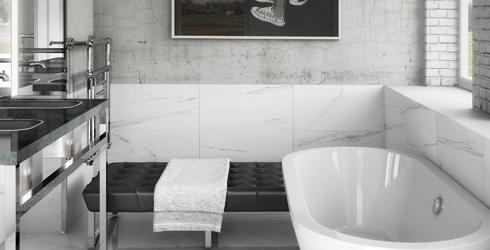 Carrara - Carrara porcelain tile 3x6