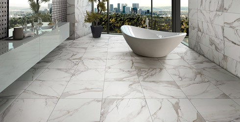 White Marmi Porcelain Tile - Carrara porcelain tile 3x6