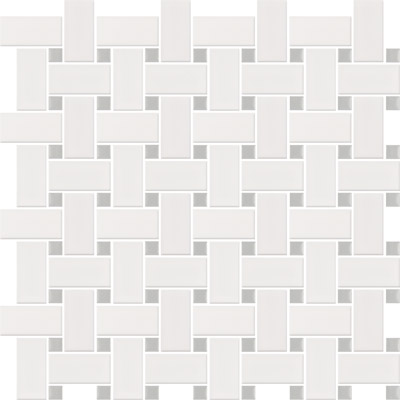 White With Grey Dot Basketweave 284057