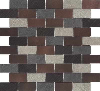 Dark Oil Rubbed Bronze 1x2 Twill Mosaic 237404