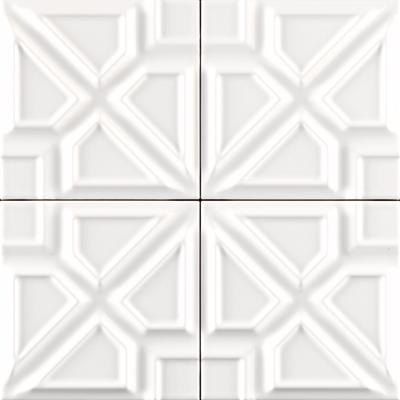 Milano Ceramic Tile - 5x5 white ceramic tile