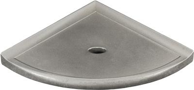 8 Inch Corner Shelf .268843. Cast Metal